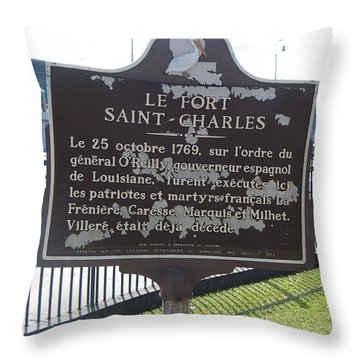 La-013 Le Fort Saint-charles Throw Pillow by Jason O Watson