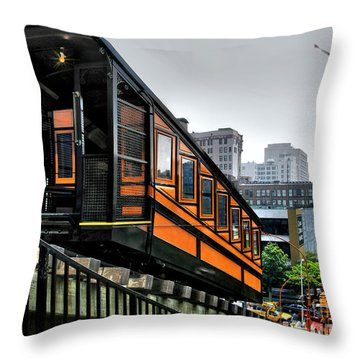 Los Angeles Angels Flight Throw Pillow by Jennie Breeze