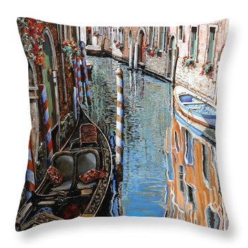 La Barca Al Sole Throw Pillow
