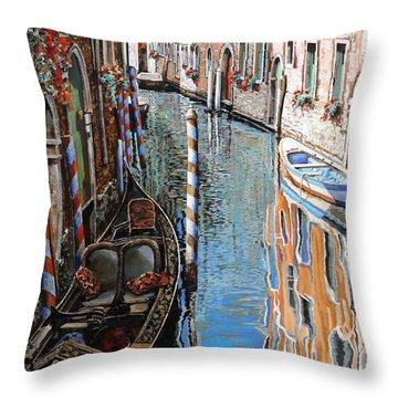 La Barca Al Sole Throw Pillow by Guido Borelli