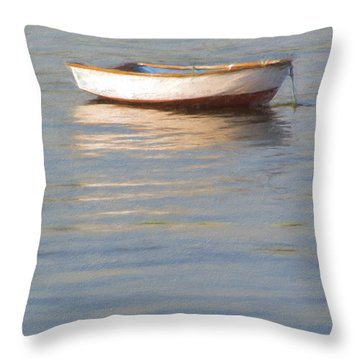 La Barque Au Crepuscule Throw Pillow