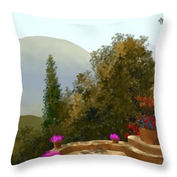 La Bella Terrazza Throw Pillow