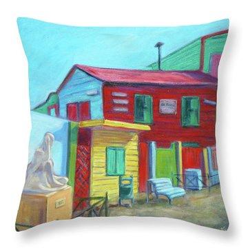 La Boca Morning I Throw Pillow by Xueling Zou