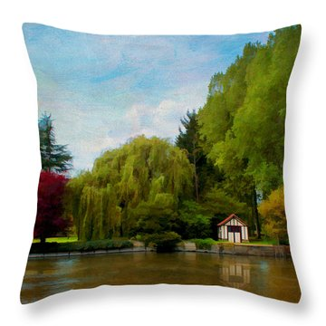 La Cabane A Acquigny Throw Pillow