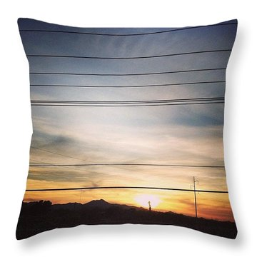 La Canada Sunset Throw Pillow
