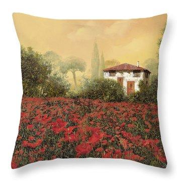 La Casa E I Papaveri Throw Pillow