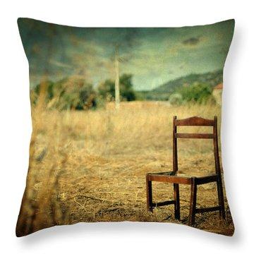 La Chaise Throw Pillow by Taylan Apukovska