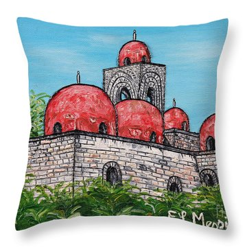 La Chiesa Di San Giovanni Degli Eremiti  Throw Pillow by Loredana Messina