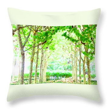 La Defense Platanuses Throw Pillow