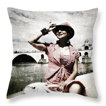 Throw Pillow featuring the photograph La Demoiselle D'avignon by Selke Boris