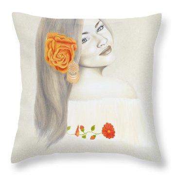La Diva Throw Pillow by Lorena Rivera