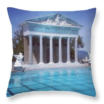 La Dolce Vita At Hearst Castle - San Simeon Ca Throw Pillow