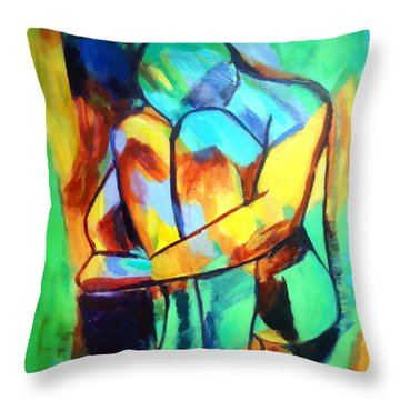 La Douleur De Vivre Throw Pillow by Helena Wierzbicki