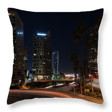 La Down Town 2 Throw Pillow by Gandz Photography