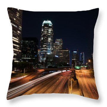 La Down Town Throw Pillow by Gandz Photography