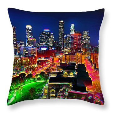 Throw Pillow featuring the painting La Experience by Jalai Lama