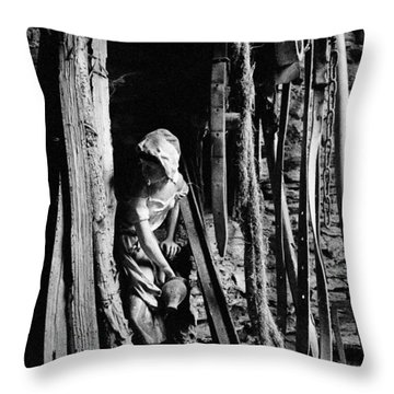 La Fadette Throw Pillow by Marie-Dominique Verdier