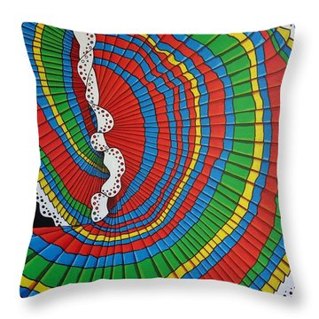 Throw Pillow featuring the painting La Falda Girando - The Spinning Skirt by Katherine Young-Beck