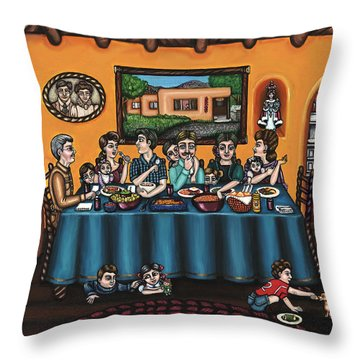 La Familia Or The Family Throw Pillow