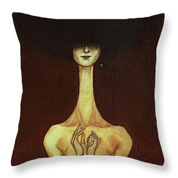 La Femme Fatale Throw Pillow