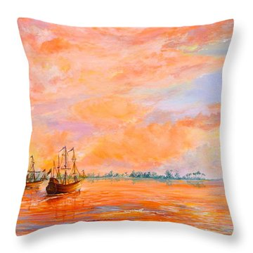 Throw Pillow featuring the painting La Florida by AnnaJo Vahle