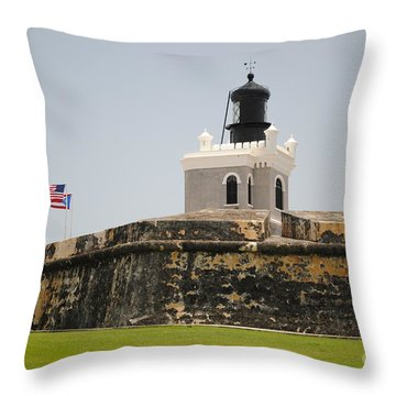 La Fortaleza Light Tower Throw Pillow