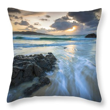 La Fragata Beach Galicia Spain Throw Pillow