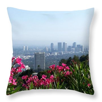 L.a. From Beverly Hills Throw Pillow by Dany Lison