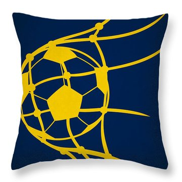 La Galaxy Goal Throw Pillow by Joe Hamilton