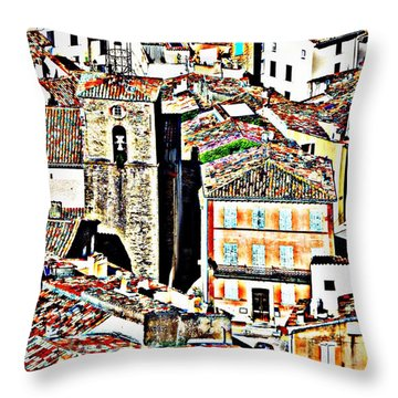 La Garde Freinet Throw Pillow