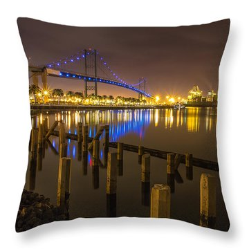 L.a Harbor Throw Pillow by Tassanee Angiolillo