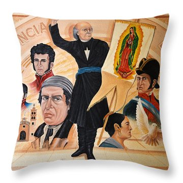 Throw Pillow featuring the photograph La Independencia De Mexico by Christine Till