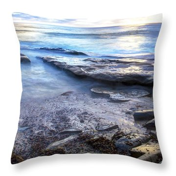 La Jolla Blue Water Throw Pillow