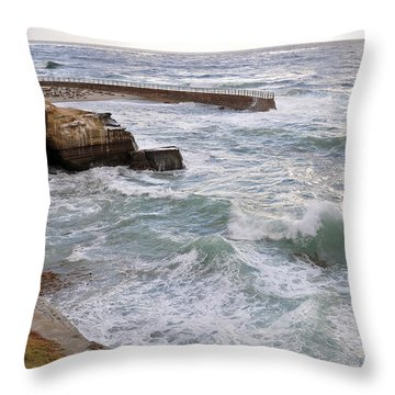 La Jolla Ca Throw Pillow by Gandz Photography
