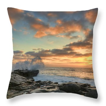 La Jolla Cove At Sunset Throw Pillow