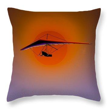 La Jolla Evening Throw Pillow