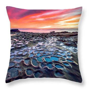 La Jolla Potholes Throw Pillow