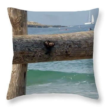 Throw Pillow featuring the photograph La Jolla Scene by Susan Garren