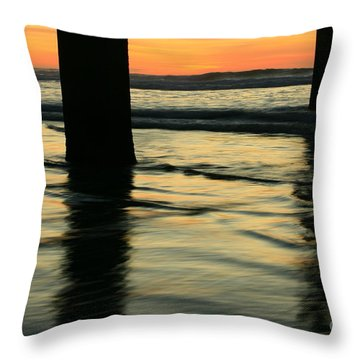La Jolla Shores Sunset Throw Pillow