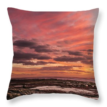 La Jolla Sunset 1 Throw Pillow by Lee Kirchhevel