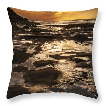 La Jolla Sunset 3 Throw Pillow by Lee Kirchhevel