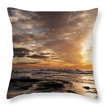 La Jolla Sunset 4 Throw Pillow