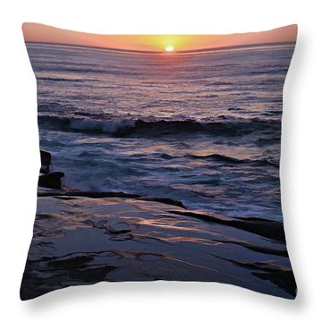 La Jolla Sunset Reflection Throw Pillow