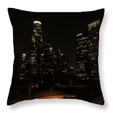 Throw Pillow featuring the photograph LA by Kevin Ashley