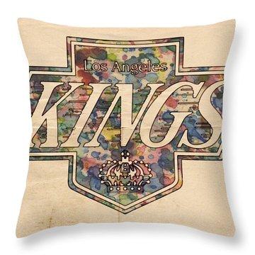 La Kings Vintage Art Throw Pillow