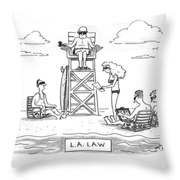 L.a. Law Throw Pillow