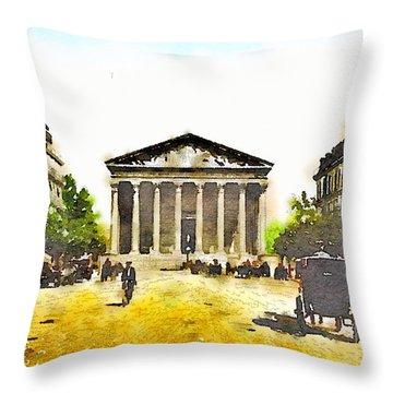 La Madeleine 1890 Throw Pillow