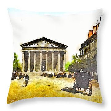 La Madeleine 1890 Throw Pillow