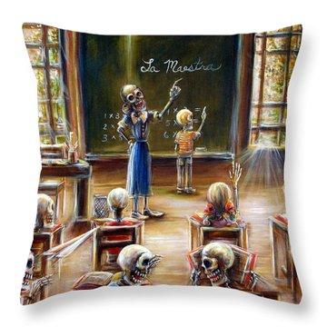 La Maestra Throw Pillow