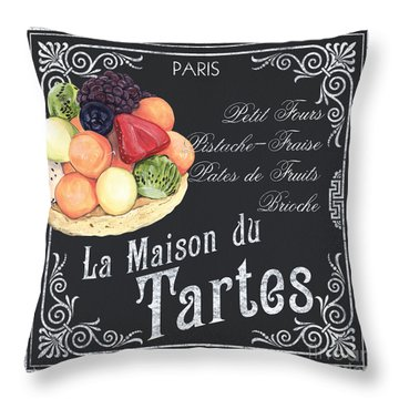 La Maison Du Tartes Throw Pillow
